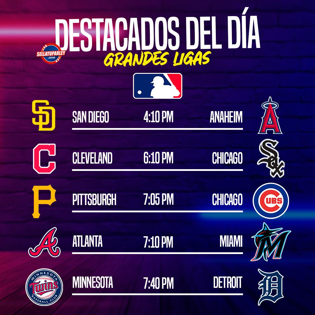 ⚾Mitad de semana y no puedes perderte los juegos que tenemos hoy para ti en la #MLB 🤩  Aquí algunos de los más importantes del día⚾🔥  Apuesta por tu favorito en el mejor lugar 📲https://t.co/m7LzE8lw5k https://t.co/W4U6tKPTm4