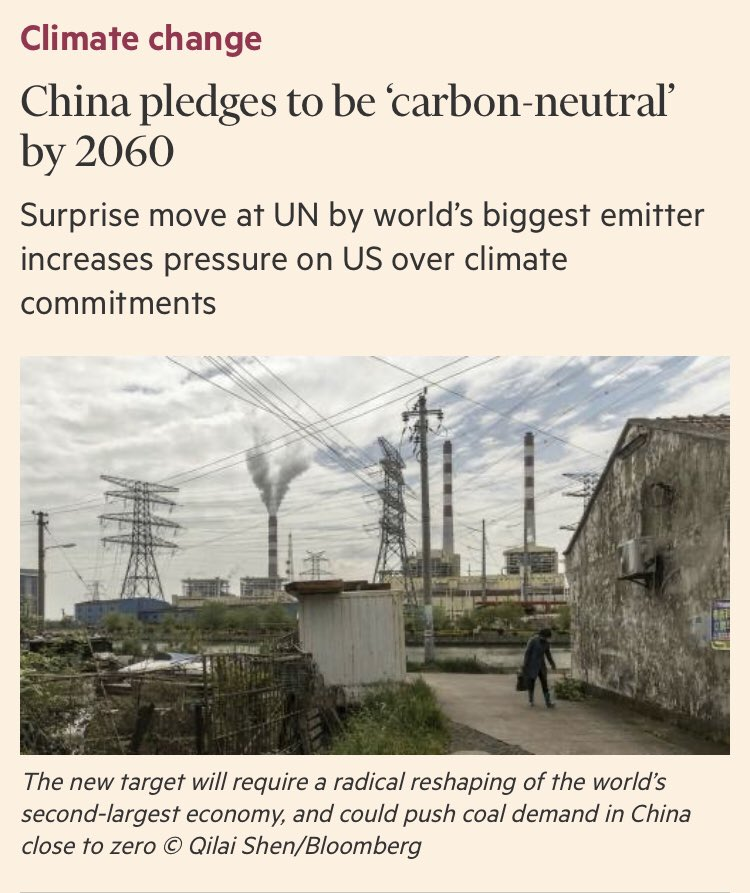 """#China el país que genera la mayor cantidad de gases de efecto invernadero a nivel mundial, se compromete a ser """"carbono neutral"""" para 2060.   #economíacircular #sostenibilidad #contaminación #GEI #GHG #economiacircular #MedioAmbiente #carbonoffsets   https://t.co/Vk2aq0K7Th https://t.co/DgKHaskNUI"""