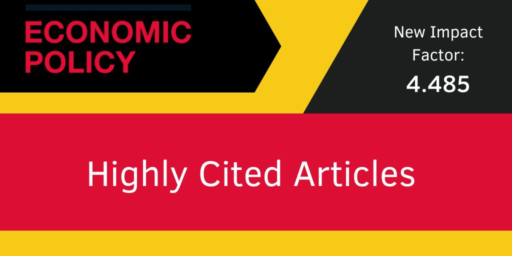 Explore a collection of the top cited papers from Economic Policy in recent years, which have contributed to our leading Impact Factor @CEPR_org: https://t.co/R0zXmZ4zVz https://t.co/MEMrsNXLKq