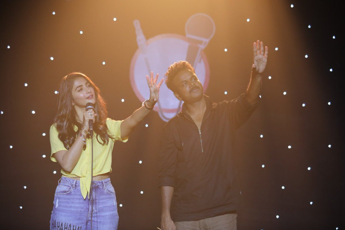 Happy Birthday to my director garu,@baskifilmz ☺️ Reaching for the stars wayyyyy up there with a new character and stand up comedy concept! Hoping for a BLOCKBUSTER year ahead for you sir 😉😃 #MostEligibleBachelor