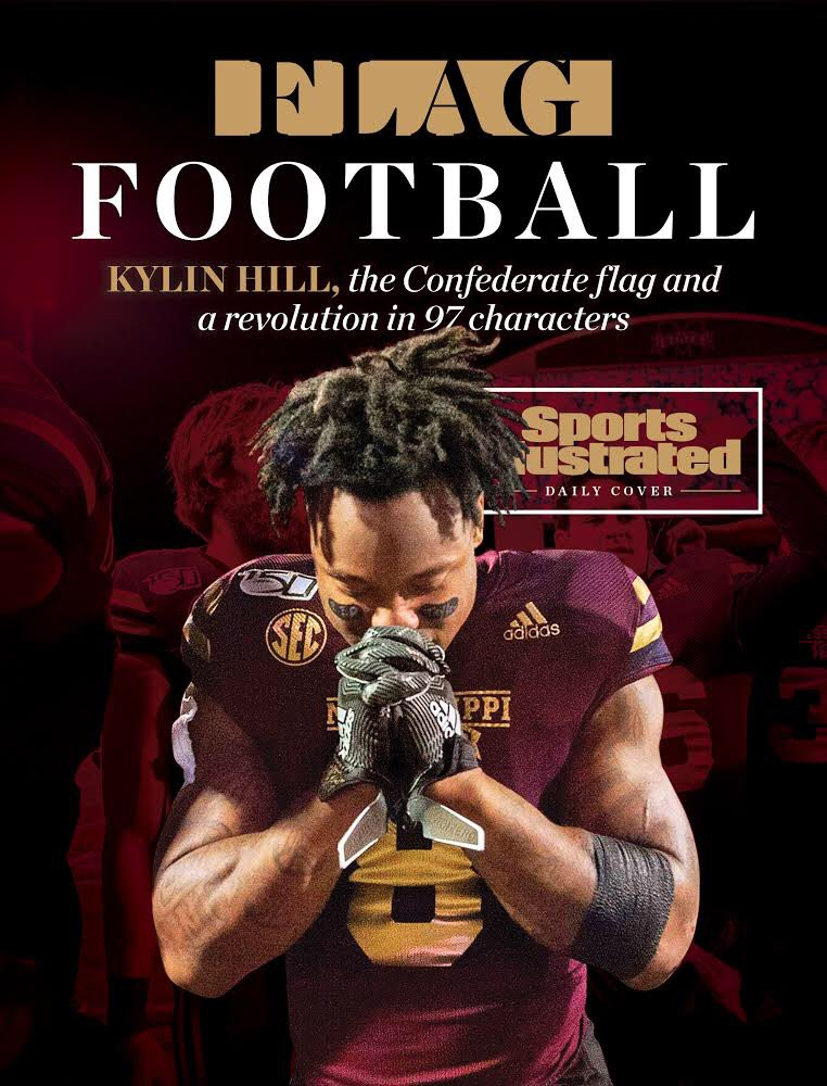 Our @SINow Daily Cover   Kylin Hill, the Confederate flag & a revolution in 97 characters.  The story behind the tweet heard 'round college football.  https://t.co/cDYxjXGTb4 https://t.co/nQfITY3Zq7