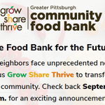 Image for the Tweet beginning: While @PghFoodBank has been absolutely