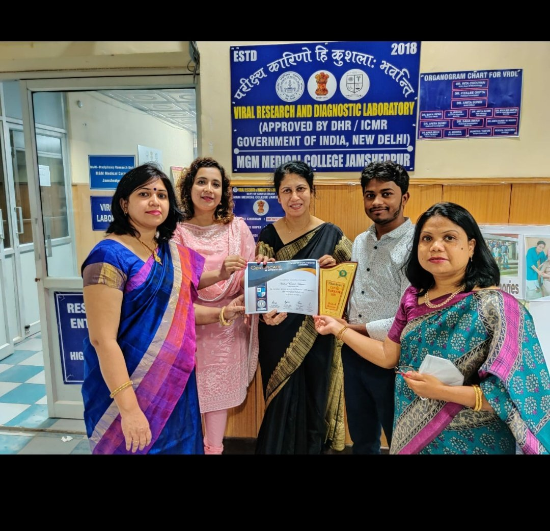 Vle Rahul Kumar Sharma from Jamshedpur received the covid warrior 2020 award from MGM medical college for his continuous service as data entry operator from past 5 month.@CSCegov_ @CSCJharkhand @Harbir08 @wasim_imam https://t.co/lxkic4ZGJu