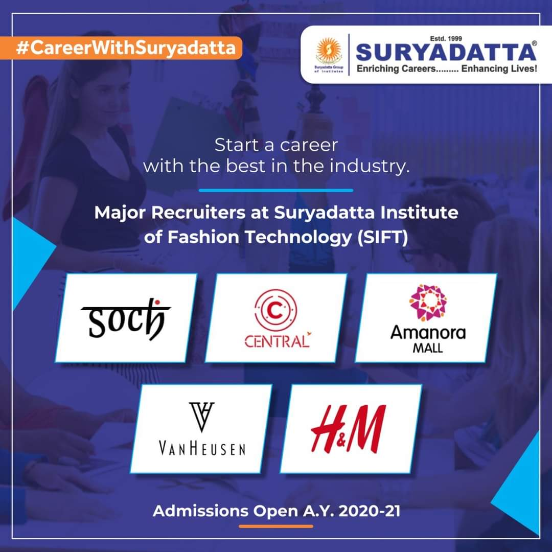 #Suryadatta Institute of Fashion Design (SIFT) is one of the best colleges for #FashionDesign in Maharashtra. SIFT ensures that the students start off their careers with a leap and take the ladder to success by getting placed in leading companies from fashion industry. #SIFT #SGI https://t.co/XBOyc3QiLy