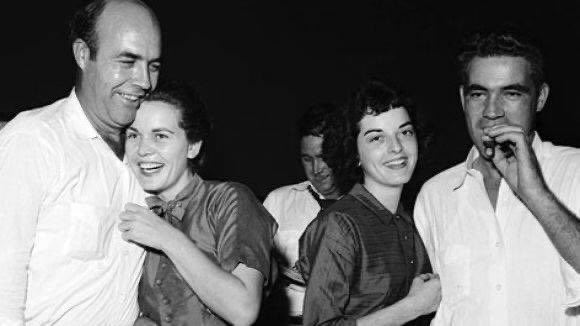 Today in 1955, J.W. Milam & Roy Bryant acquitted of Emmett Till's murder after a 67 min deliberation. One juror said they would have done it sooner had they not stopped for soda pop.   The brothers lit up cigars & celebrated. Hold this as news unfolds in Louisville. https://t.co/n56aExDmoi