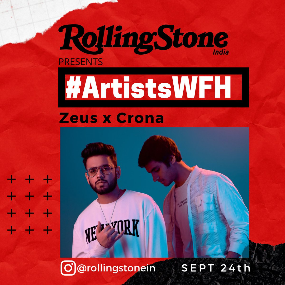 Electronic music duo @CronaZeus will be taking over our Instagram stories tomorrow as part of our #ArtistsWFH series. Tune in to watch how they spend their time best while working at home https://t.co/AGC6y349bQ