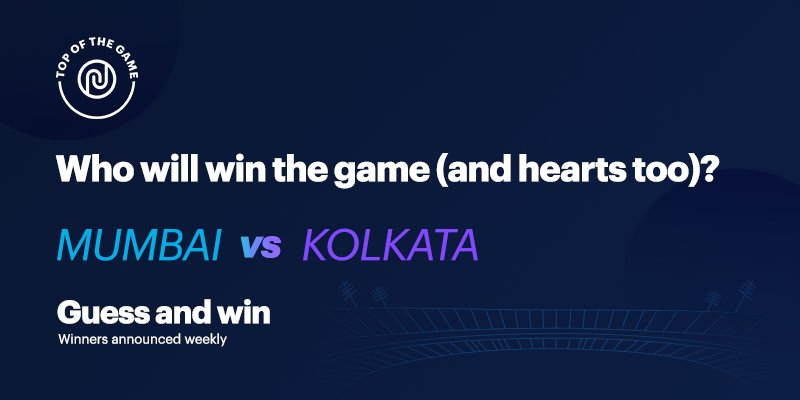 Let the guessing games begin. Predict the winner and get a chance to win Noise goodies every week. #TopOfTheGame https://t.co/XmQbBARkpT