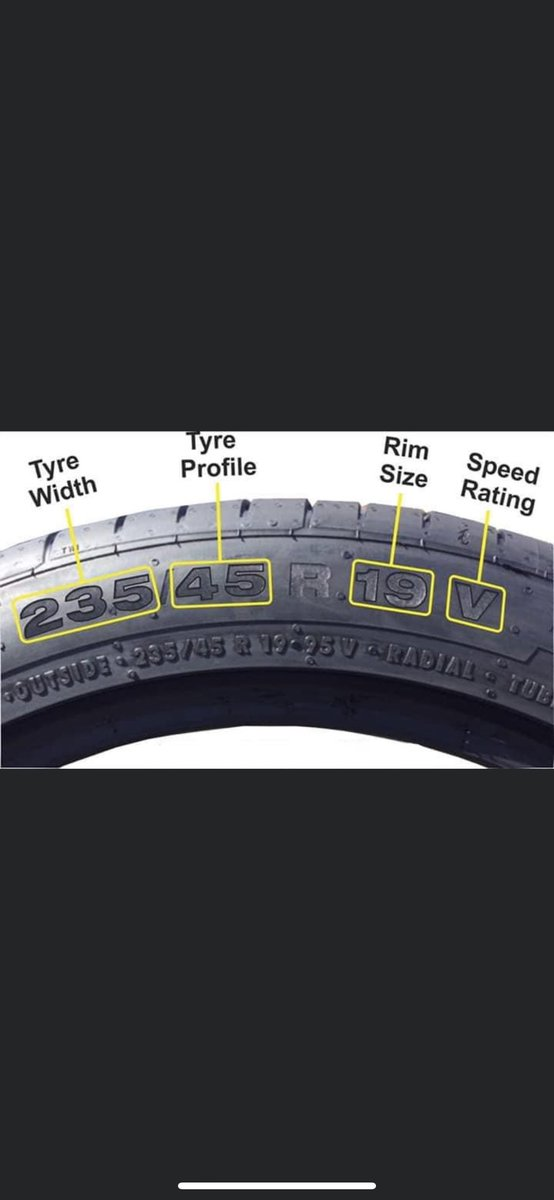 EVERYONE THIS IS HOW YOU READ YOUR TIRE SIZE. 🚨🚨🚨🚨 https://t.co/LY0s3lSZoX
