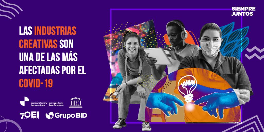 🤔¿Eres un trabajador o #emprendedor de las #IndustriasCreativas? 💃🎹  Queremos saber cómo te está afectando la pandemia. Cuéntanos tu situación en esta encuesta.  👉https://t.co/MZwNxaweBS  @UNESCO, @SEGIBdigital @Mercosur y @EspacioOEI https://t.co/884JyjZ3kC