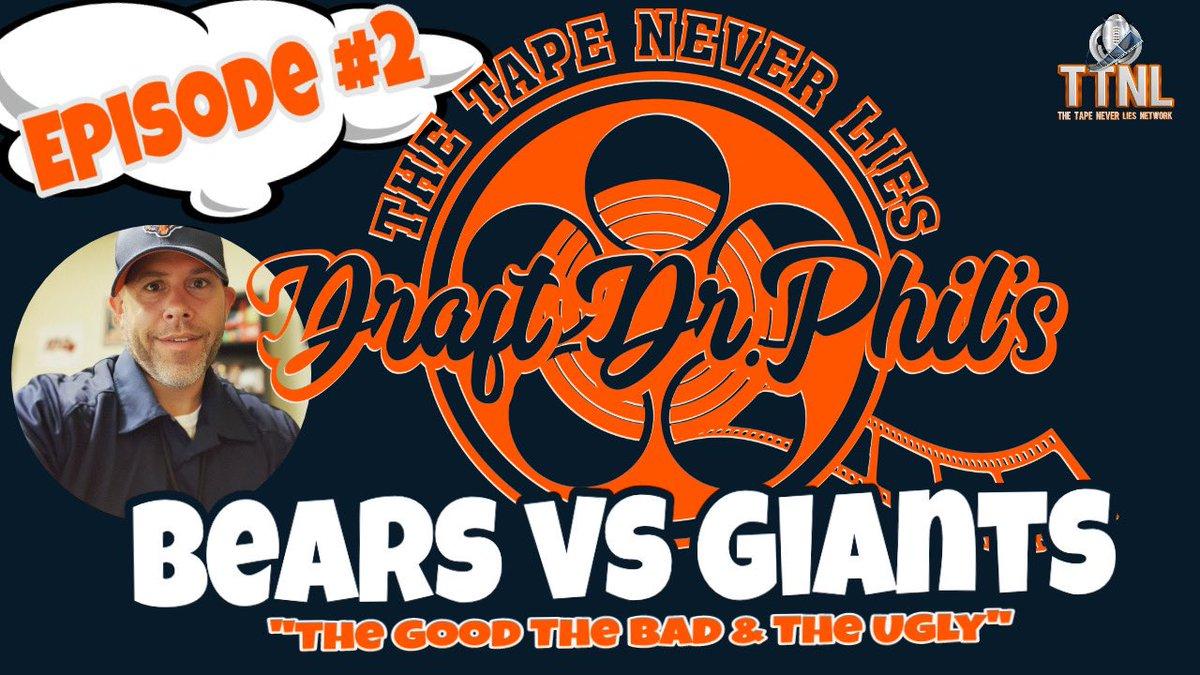 Week 2 breakdown #Bears #Giants is now LIVE!!!!!!!! youtu.be/ftSAHH4DBhI #TTNL #NFL #100Crew #TheTapeNeverLies #SpencerStrong