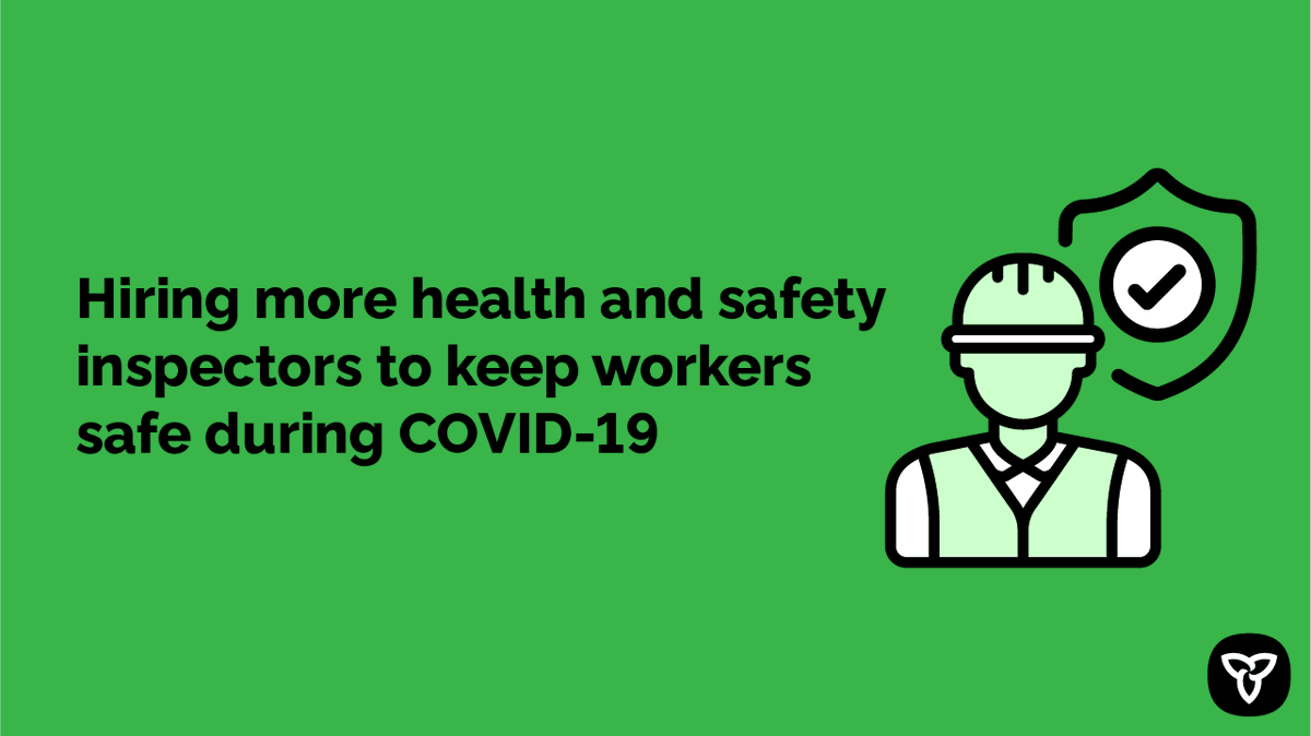 👩🏾💼👩🏾🔬👷🏻♂️👨🏿🍳 I know in workplaces across the province, health and safety is still top of mind. Thats why were hiring 98 additional health and safety inspectors. There will be more inspectors on the ground than ever before. Learn more: news.ontario.ca/en/release/584…