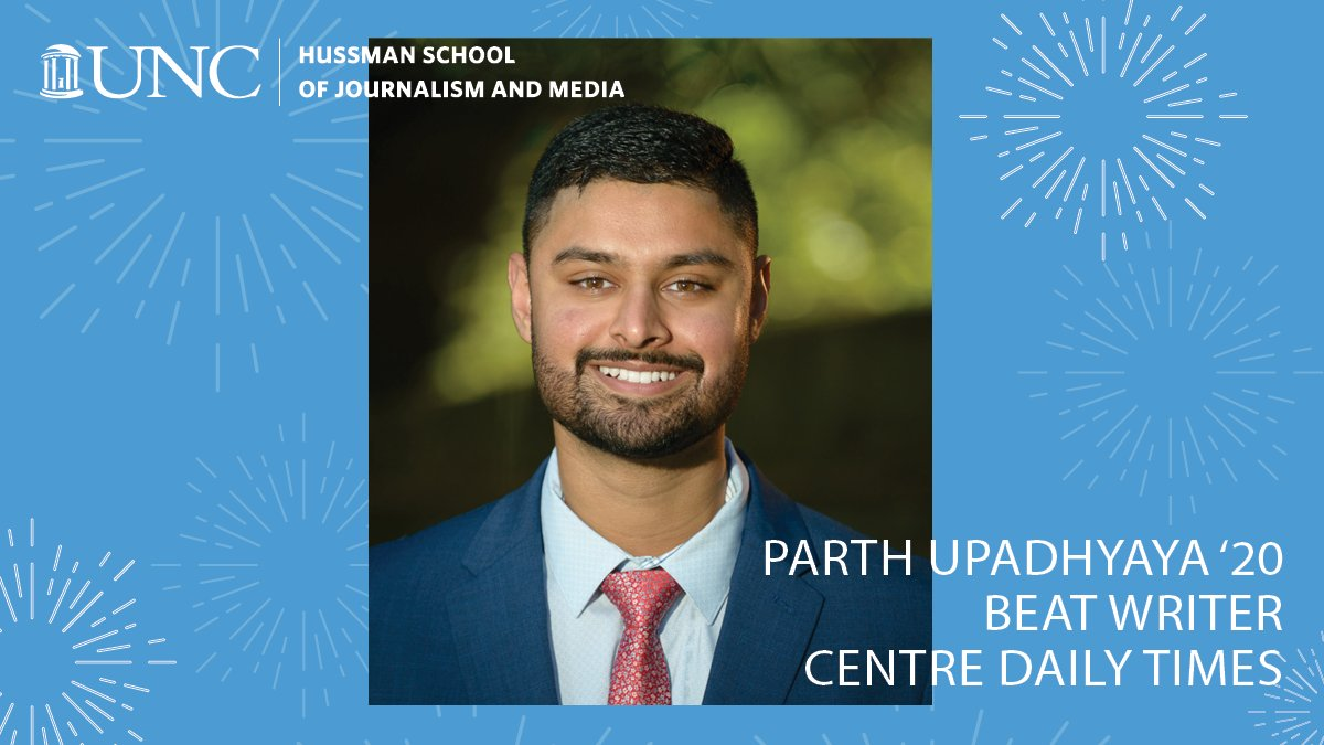 CAREER STARTERS: What are#UNCHussman graduates up to this fall? Parth Upadhyaya '20 is working as a Penn State Football Beat Writer for @centredaily. Every day he gets to cover Penn State football, along with other Penn State athletics and news.