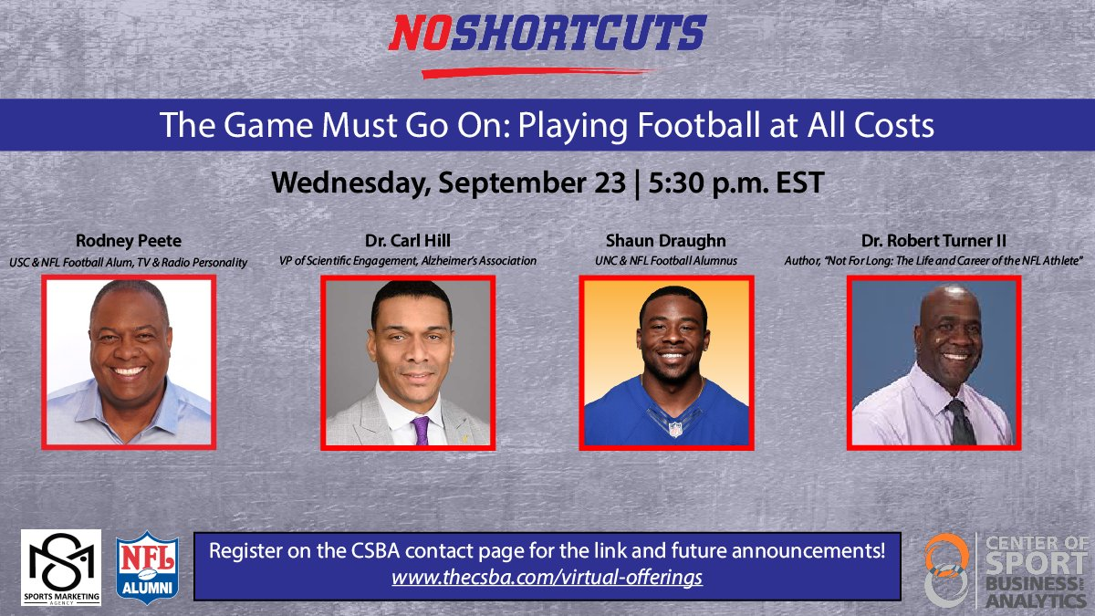 Join @hillcv17 on panel discussion about CTE, Alzheimer's Disease, and positive mental health. Bringing attention to the risks and rewards of playing football. @IstaartP @ISTAART @gmbreads @ytquiroz  #DiversityPIA @mlzuelsdorff https://t.co/YseoeTy8Wn https://t.co/DGYGn5po7F