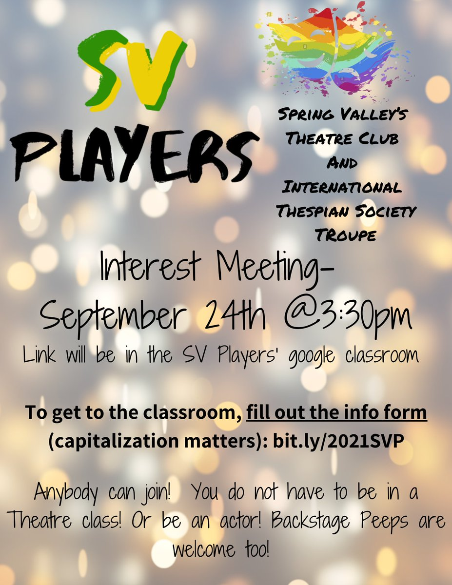SV Players Interest Meeting https://t.co/7Db5Sspahl