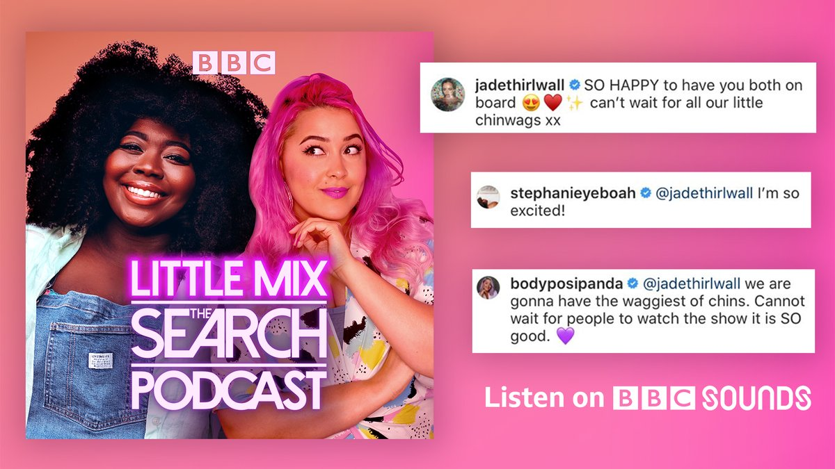 Want to know all the juicy behind the scenes gossip from @LMTheSearch?!   Once you've watched on @BBCOne and @BBCiPlayer, join @bodyposipanda_ and @StephanieYeboah for exclusive interviews with the bands and @LittleMix themselves 🎤 https://t.co/zrpElln2pU