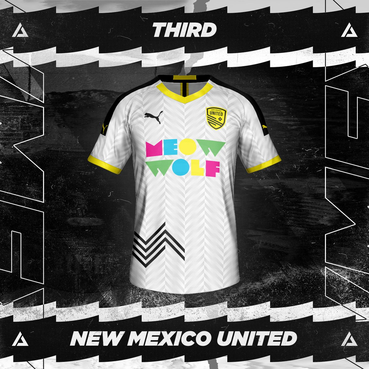 New Mexico United Third Kit Concept. ⁠ Rate 1-10! ⁠ #JPereira #NewMexicoUnited #NewMexico #NM #NMUnited #SomosUnidos #SomosFamilia #NMProud #NMStrong #NMTrue #Futbol #FantasyKit #ConceptKit #KitDesign #Soccer #Football #Jersey #GraphicDesign #PUMA #FIFA #Kit #USA https://t.co/iqaDpPuP6o