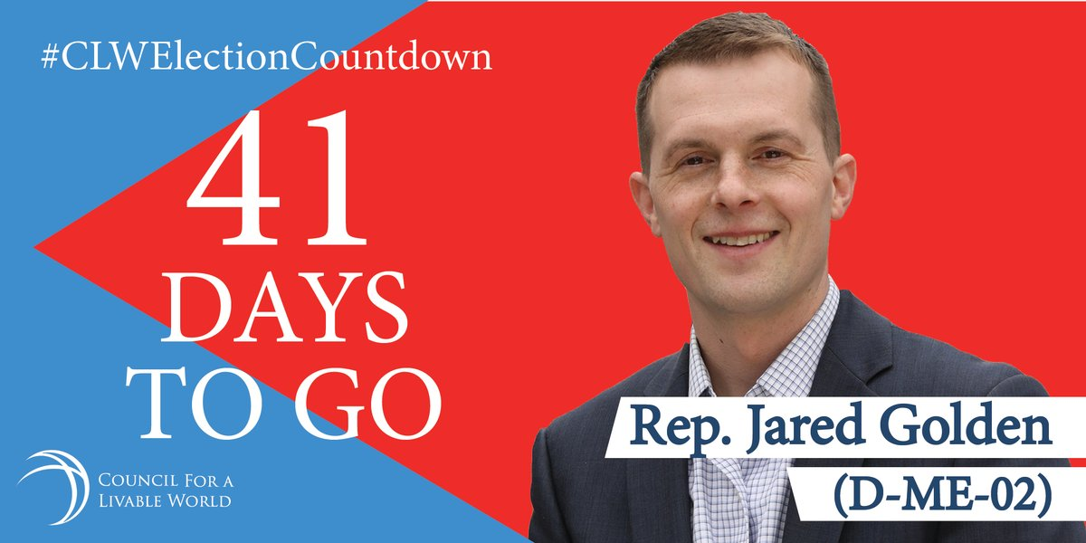 In his first year in Congress, Council endorsee @golden4congress voted against building a new, low yield nuclear weapon & voted for prohibiting U.S. military action against Iran without congressional approval. Help him keep his seat: https://t.co/92v4Kib009 #CLWElectionCountdown https://t.co/W5PWZVCwWr