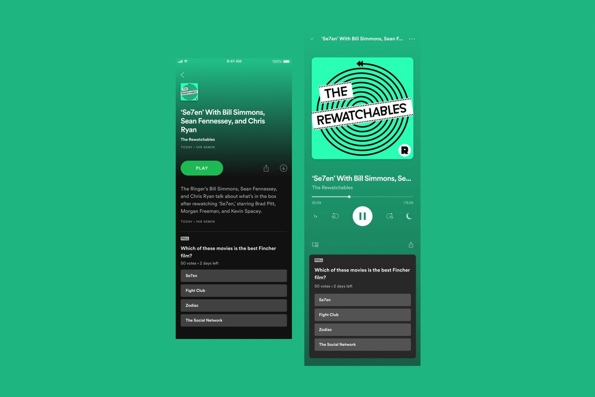 Spotify is testing interactive podcast polls within the app