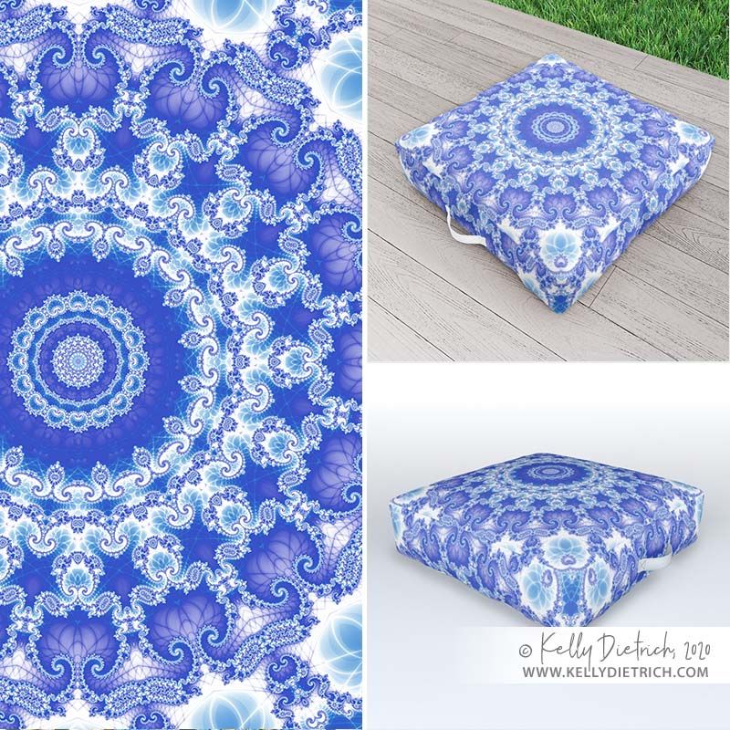 Clarity Mandala in Blue and White Outdoor / Floor Pillow with carry handle » https://t.co/9oJYZtHQT3  #mandala #mandalas #pillow #kaleidoscope #digitalart #colorfulhome https://t.co/XMicj3Mn8j