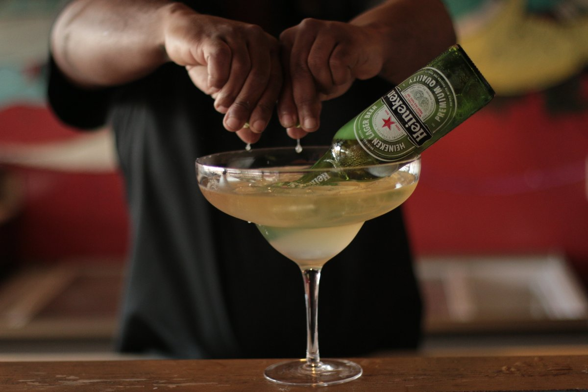 The @Heineken_JA Beergarita, circa 2019 (BC - before corona).  But all isn't lost! Make your own beergarita at home with a Beergarita Care Package featuring a Litre Margarita, 3 bottles of Heineken AND some Heineken merch! Order yours today while supplies last. #ChilitosJaMexican https://t.co/HsKAkIm9Z9