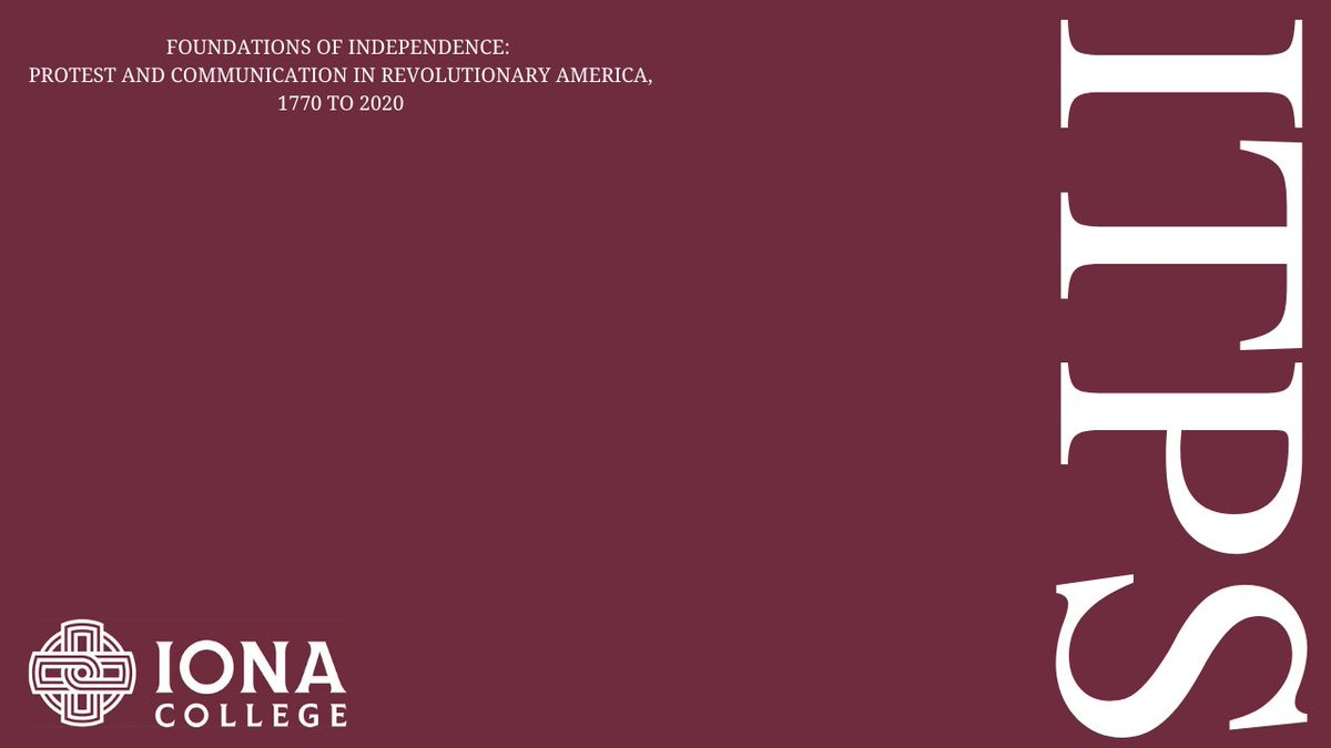 In an effort to make some virtual conference swag, please check out our custom #ITPSCon2020 zoom background, courtesy of our brilliant history communication intern at the #ITPS, @ionacollege junior Chyanne Blakey. Email itps@iona.edu. if you'd like a copy in higher res! https://t.co/Vjs1HK4Hq3