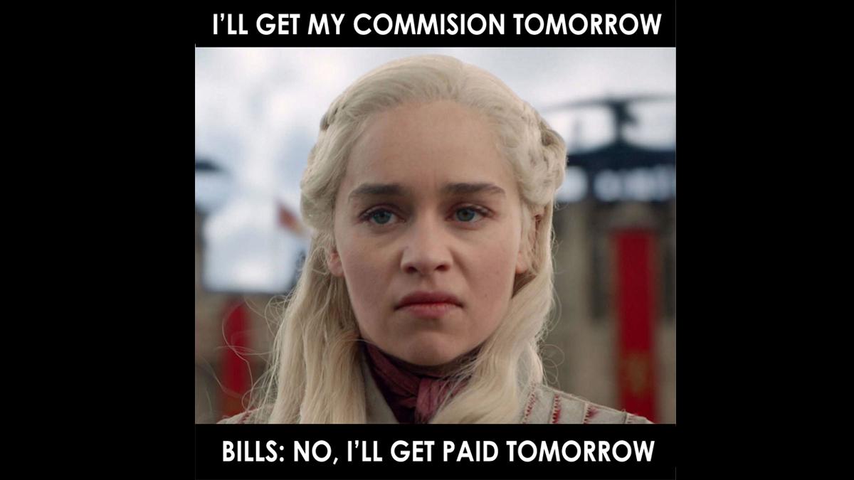 Bills want to get paid first.  #RealEstate #House #bestmemes #WednesdayFun #Funnymeme #Home #Listing #Meme #makeyourownlane #mpgvip #defstar5  #Market #Negotiation #Deals #Property #RealestateTalks #KristenSellsNaples #morningcoffe #RealtorChallenges https://t.co/qZVviREvrz
