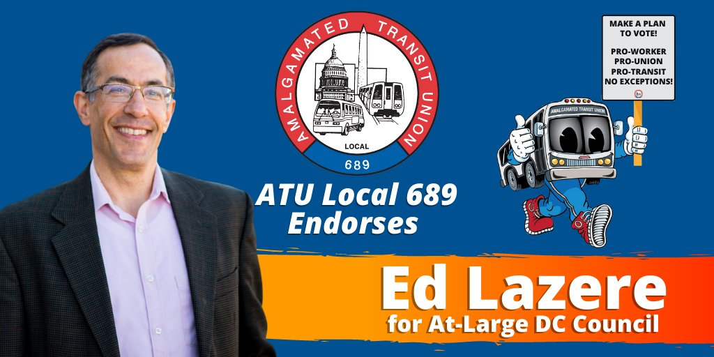 Were proud to join @DCLabor in endorsing @edlazere for DC Council At-Large. Ed has been a budget expert and champion for working people for decades. We cant wait to see what he achieves on the council!