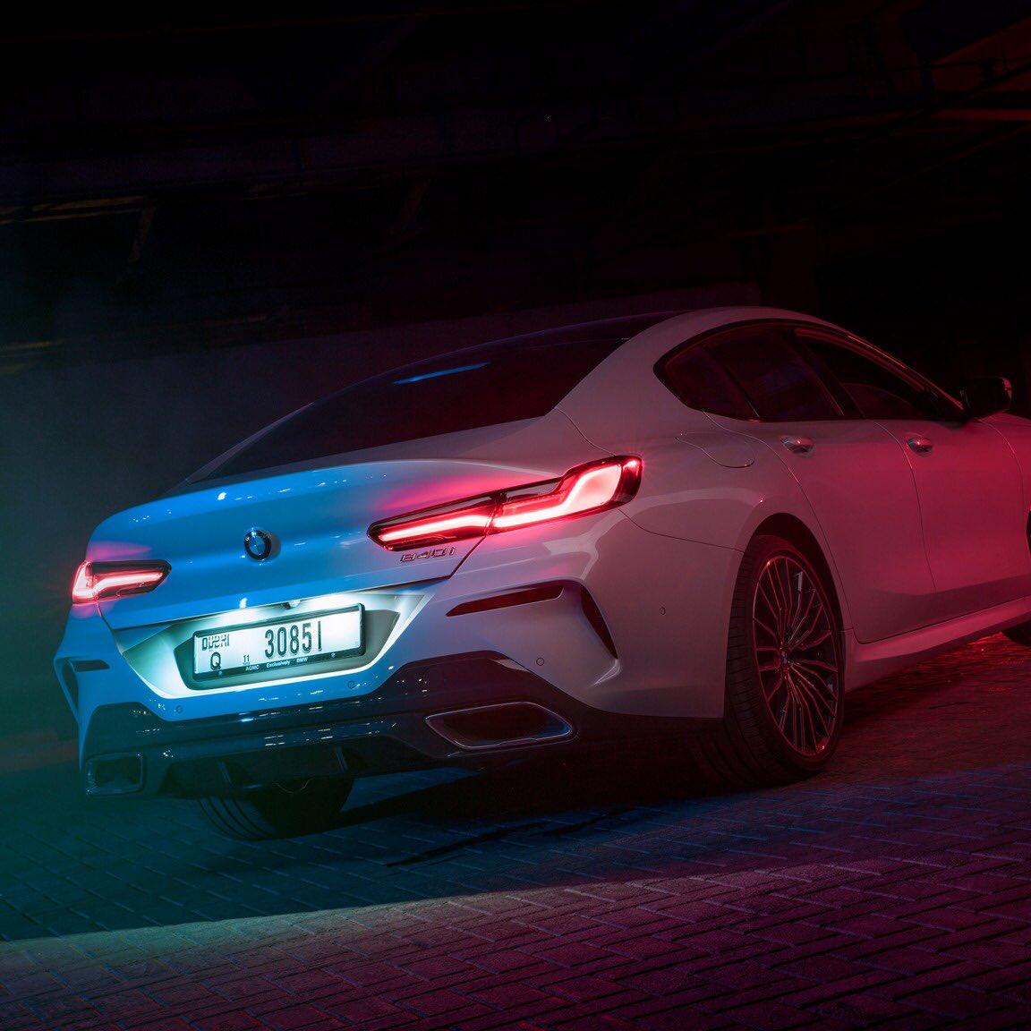 حوّل كل منعطف إلى حلبة سباق. الفئة الثامنة غران كوبيه.  #BMW8Series #BMWAGMC https://t.co/f104oNNaek