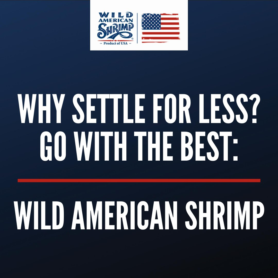Whether you're buying shrimp from your local grocery store or getting them delivered from your favorite restaurant, be sure to always get wild-caught, American shrimp!  Learn more about our delicious Wild American Shrimp at https://t.co/lXQKcR5SXI! #shrimp #buylocal #wildcaught https://t.co/88j25rEyLp