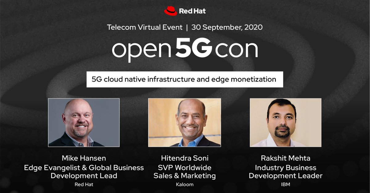 Sign up to hear from @RedHat, @IBM and @Kaloom_Inc on how to develop an integrated #5G network deployment scenario built on #OpenSource infrastructure. Join the #Open5GCon Virtual Event ➡️  https://t.co/q1VsiMCj2d #Edge https://t.co/ToKCilPGJW