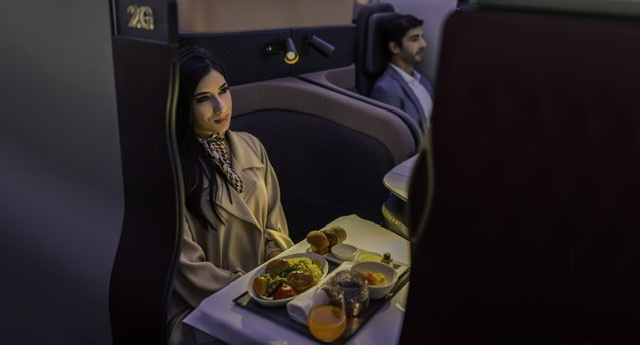 Discover your own private world on board, one where the highest standards of hygiene meet our impeccable service. Rely on us for your next safe and seamless journey as you take to the skies again. #QatarAirways #Qsuite https://t.co/EvKpHe8jFf