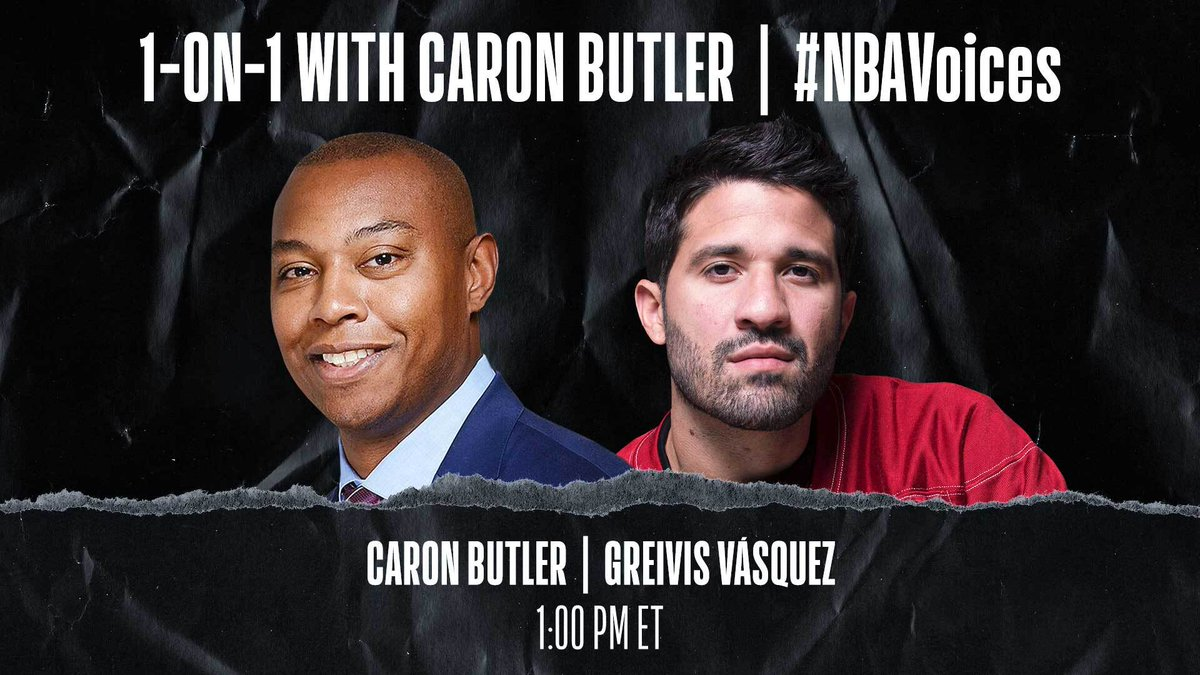 Tune in at 1:00pm/et on @NBA as Caron Butler (@realtuffjuice) sits down 1-on-1 with @GreivisVasquez to discuss his personal experiences with racism, the legacy of Hispanic NBA players, and the power of basketball to inspire young people. #HispanicHeritageMonth https://t.co/dWJggkNzxd