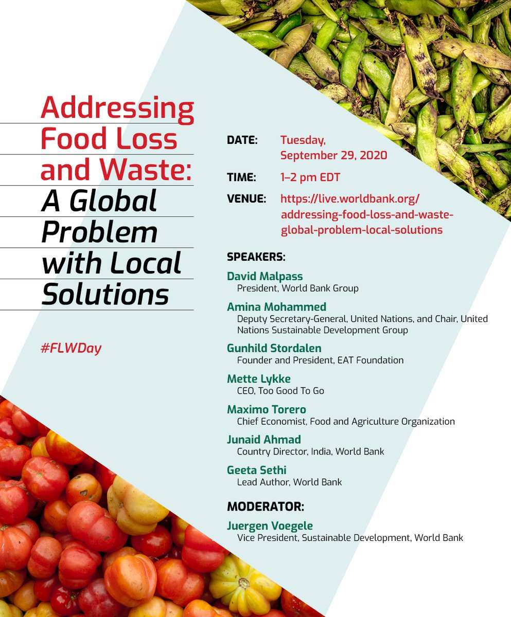 Got a question on food loss & waste? If you want an answer from experts, tune in on Sept 29 and tweet us or post them here: https://t.co/0DFakXtsfn https://t.co/kiyhuKuwzi