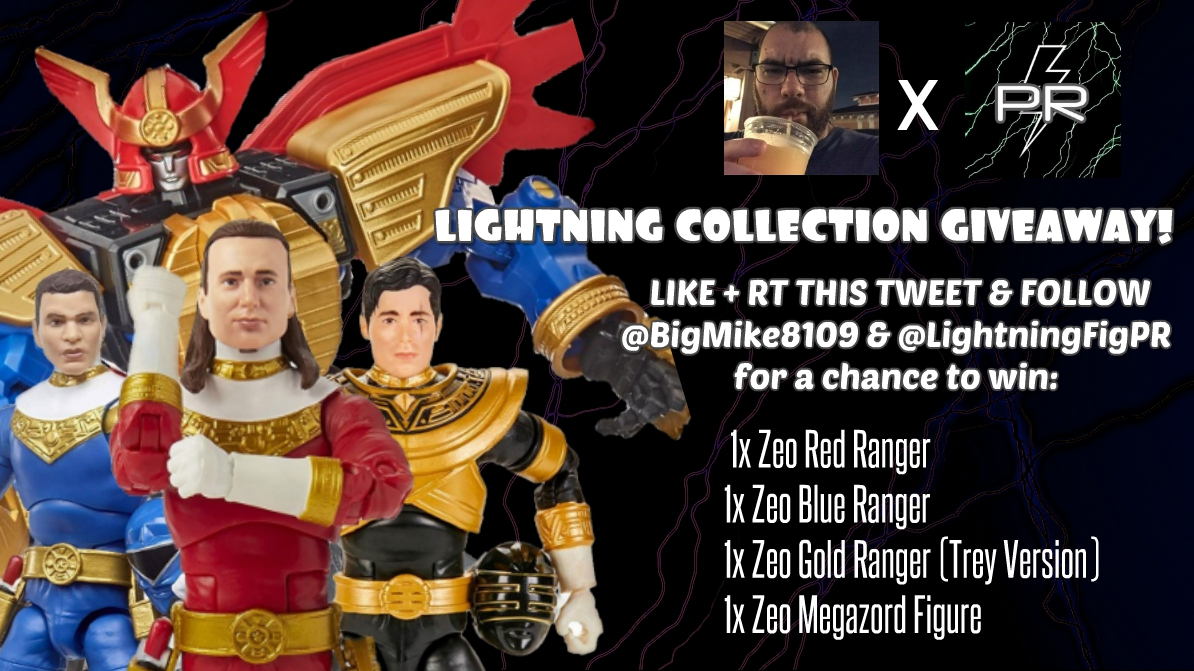 It's here! The Ultimate #LightningCollection ⚡ Zeo Giveaway!  Retweet and Like this tweet and Follow @BigMike8109 & @LightningFigPR to enter to win  -Zeo Red -Zeo Blue -Zeo Gold (Trey Version) -Zeo Megazord 12 Inch Figure  Enter until 10/1/20! https://t.co/VHjDdbyXSp