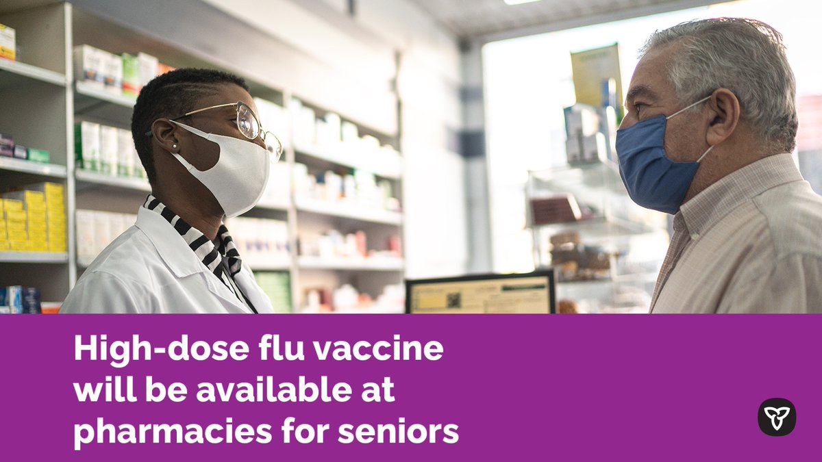 """Doug Ford's tweet - """"For the first time in Ontario's history, the high-dose  #flu vaccine for seniors will be available at participating pharmacies, in  addition to family doctor & nurse practitioner offices"""