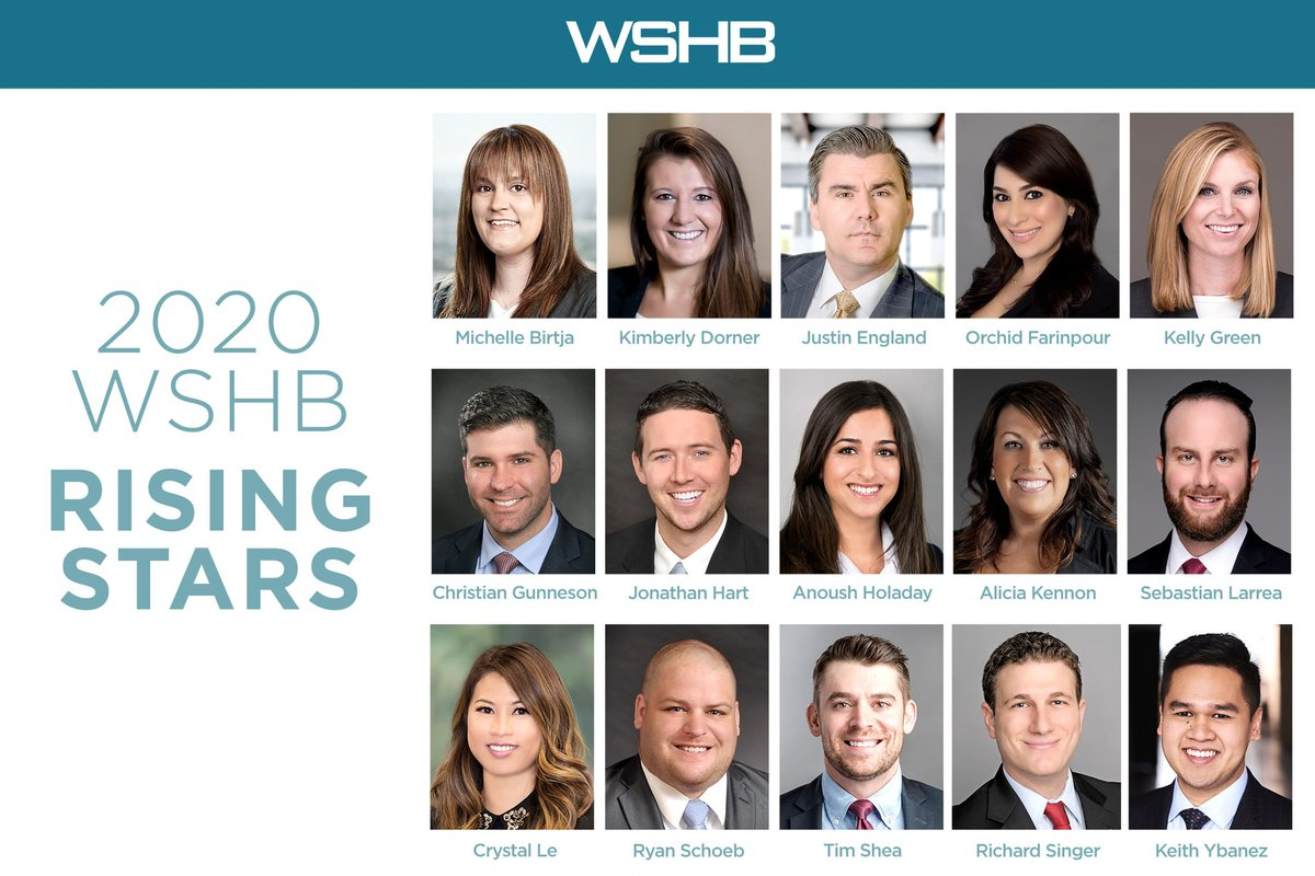 """We're proud to share that 15 of our lawyers have been named to the 2020 lists of """"Rising Stars."""" These outstanding attorneys are all 40 years or younger and demonstrate the finest qualities of a good lawyer. Our heartfelt congratulations to all our 2020 honorees! #RisingStars https://t.co/EwYLlELGMh"""