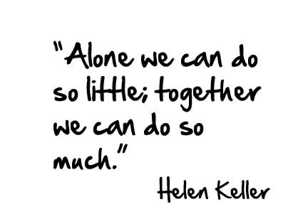 """Our volunteers make a huge impact on the lives of so many in our visually impaired community. #quote #QOTD ☺︎☻☺︎☻ Will you join us?  https://t.co/xtFOZDbxfs  [Image says """"Alone We Can Do So Little, Together We Can Do So Much"""" -Helen Keller""""""""] https://t.co/cX1XIKxl6n"""