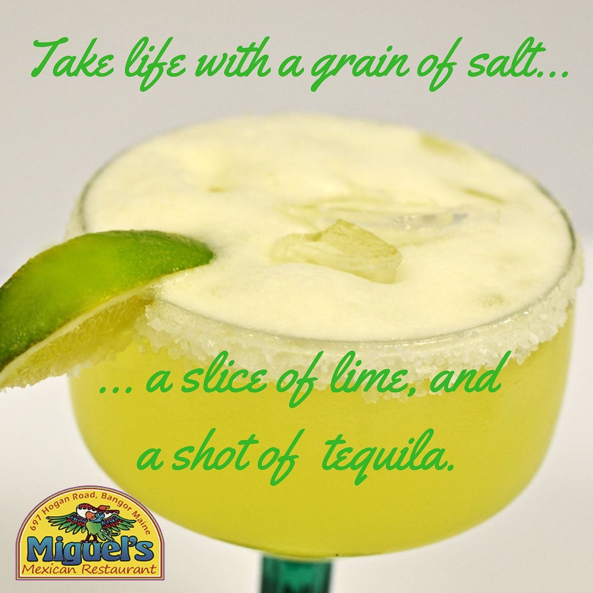 Have you ever had one of those days that only a margarita can fix? $5 traditional margaritas every Wednesday after 5pm! #heybangor #wednesdaywisdom #margarita #drinks https://t.co/FDN4hOz2Qu
