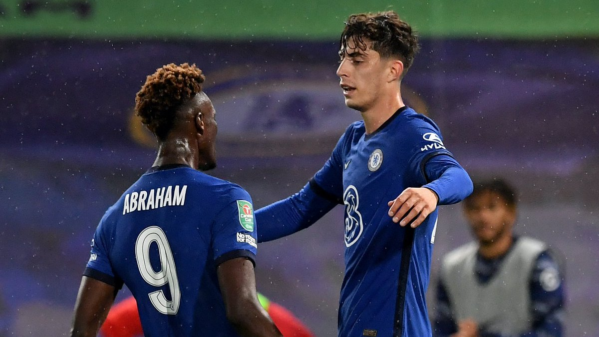 Havertz is that midfielder who's going to score goals like a striker and still retain the most assist Just like Sadio Mane. Might even be dragging top goal scorer with Werner.  Such a brilliant baller.  Arteta Ozil #CHEBAR Douglas Costa https://t.co/SaTwagRLcL