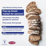 Pretty excited our new Seniors Food Security/Food Rescue program has begun. Also pretty excited the @cobsbread17thavenue is helping us with this pop up for Seniors @kerbycentre #albertacares #yyc #albertaseniors #yycseniors