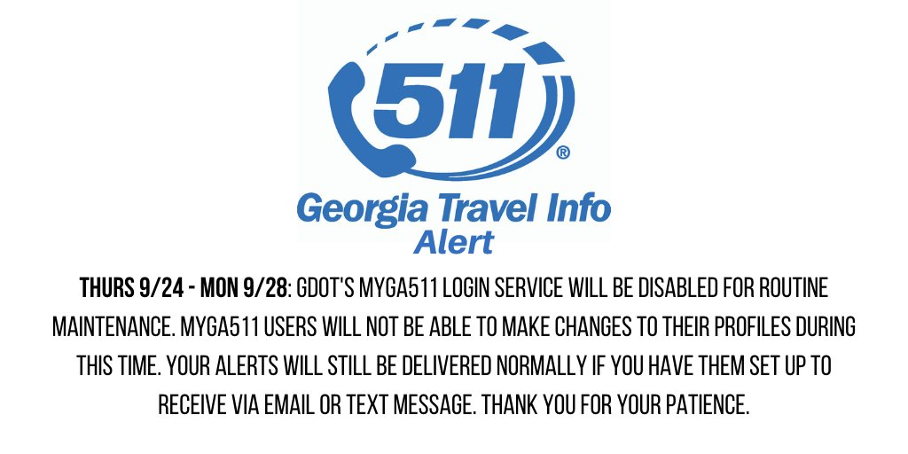 Image posted in Tweet made by 511 - A Service of Georgia DOT on September 23, 2020, 7:42 pm UTC