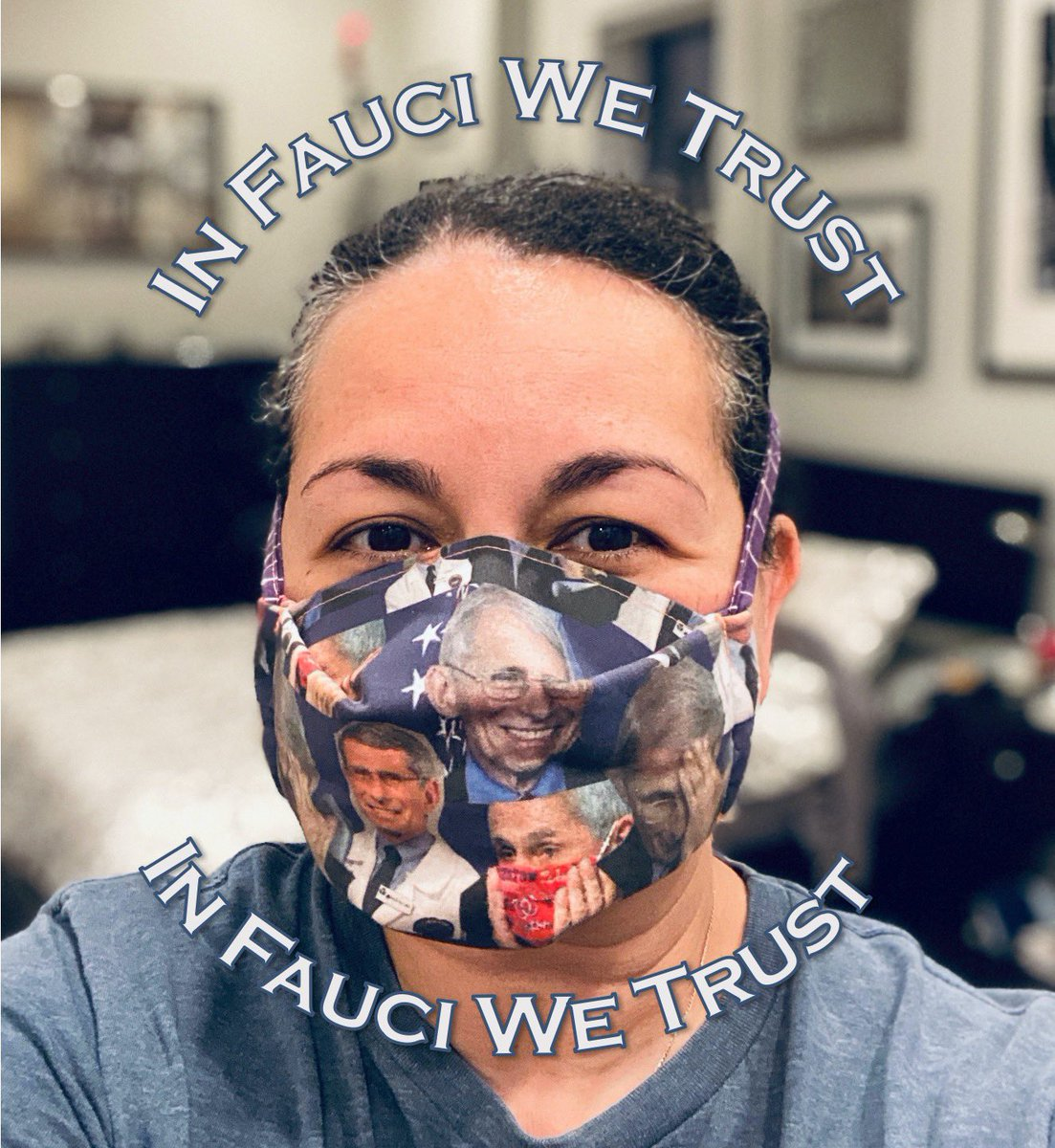 @rocketgirlmd I admire and believe Dr #AnthonyFauci so much that I made a cloth mask of him. #ScienceIsReal #COVID19 https://t.co/G0bw0emmBL