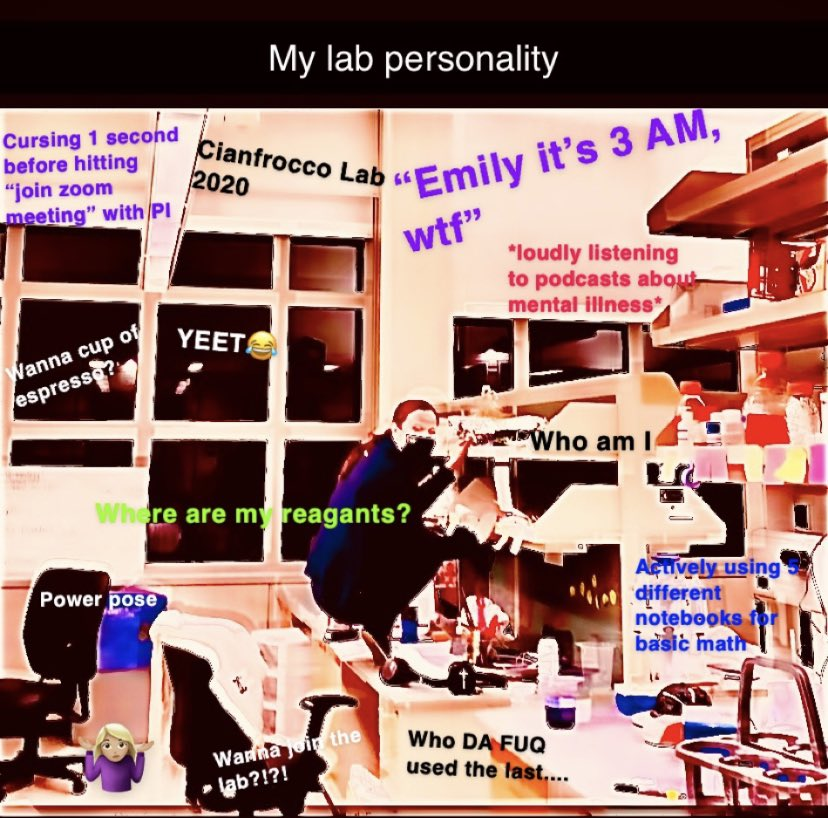 Gotten several requests for my memes: here's my lab personality 😂#AcademicChatter #phdchat #gradschool #scientist https://t.co/mKqN1J51Eb