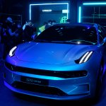 Image for the Tweet beginning: Geely debuts EV architecture it