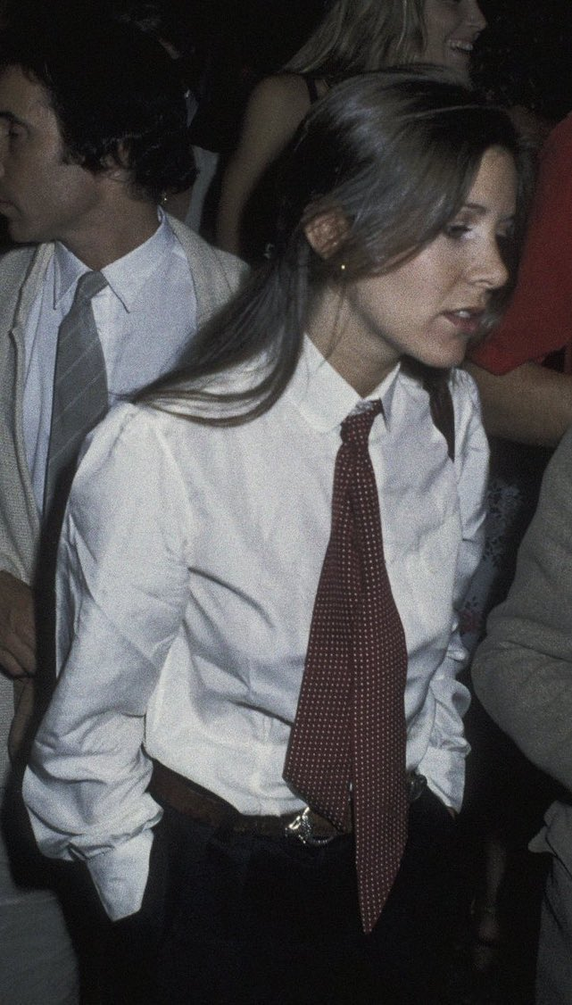 i think we can all agree that carrie fisher in a suit