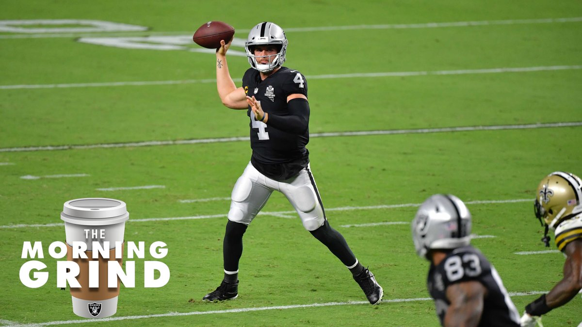 """""""Sitting at 2-0 is even better.""""  The Morning Grind breaks down the common themes from Monday and what Sunday looks like for the Silver and Black » https://t.co/EIrnO96ZfA https://t.co/9SUj4OTMut"""