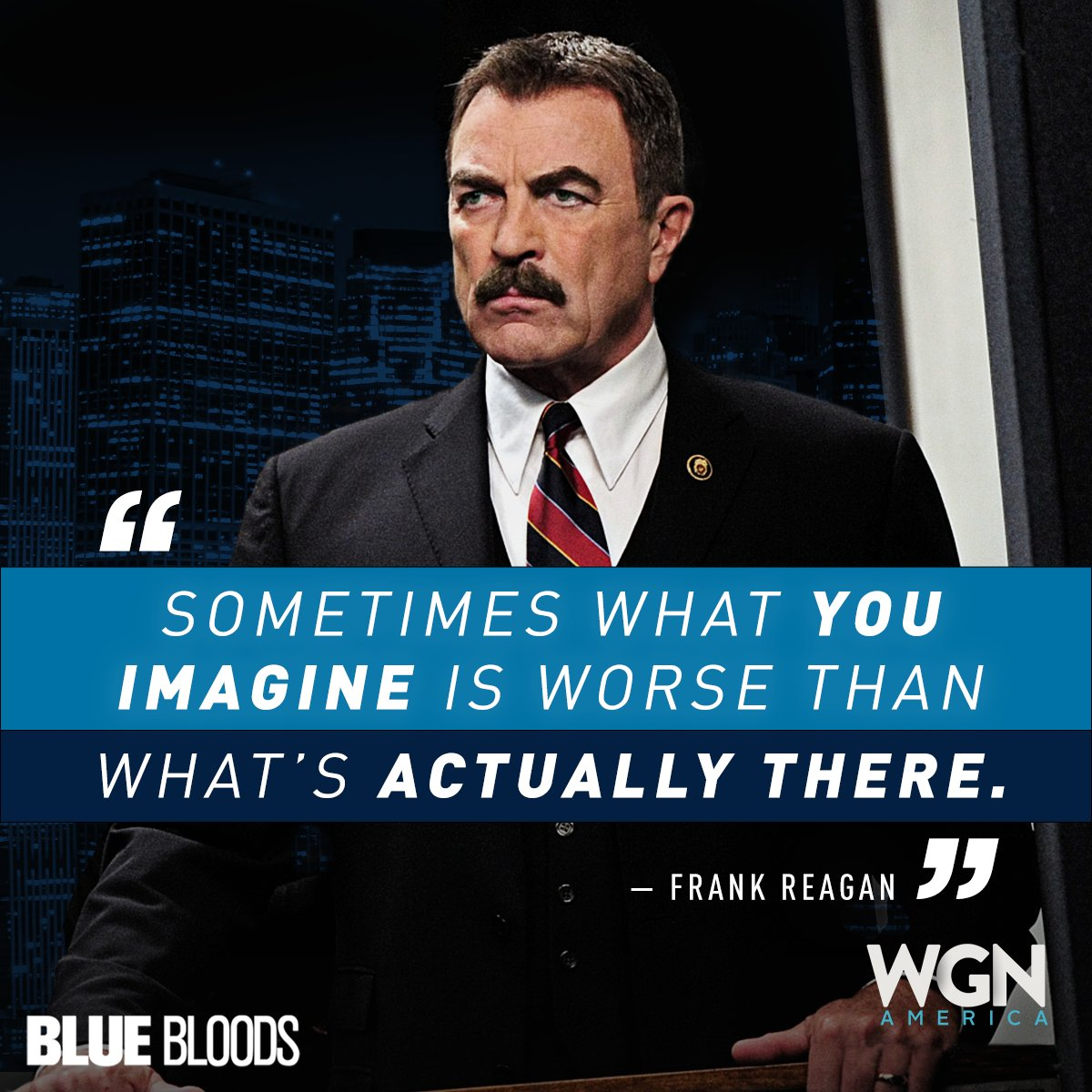 Spend a few hours with Frank Reagan and his thoughts. Watch back to back episodes of #BlueBloods TODAY starting at 2/1c only on @WGNAmerica.   Find your Channel now: https://t.co/kRuErapsvy https://t.co/xHOwOwy8NB