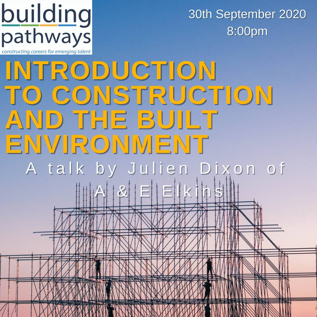 "Our 1st Build Your New Future online event is open for sign ups!.  ""Introduction to Construction and the Built Environment"" by Julien Dixon of @AEelkinsLtd  @JCPinSthLondon  https://t.co/2KqO5d24xl  #ConstructionCareers  #LoveConstruction #Mentoring #Training #CareerGuidance"