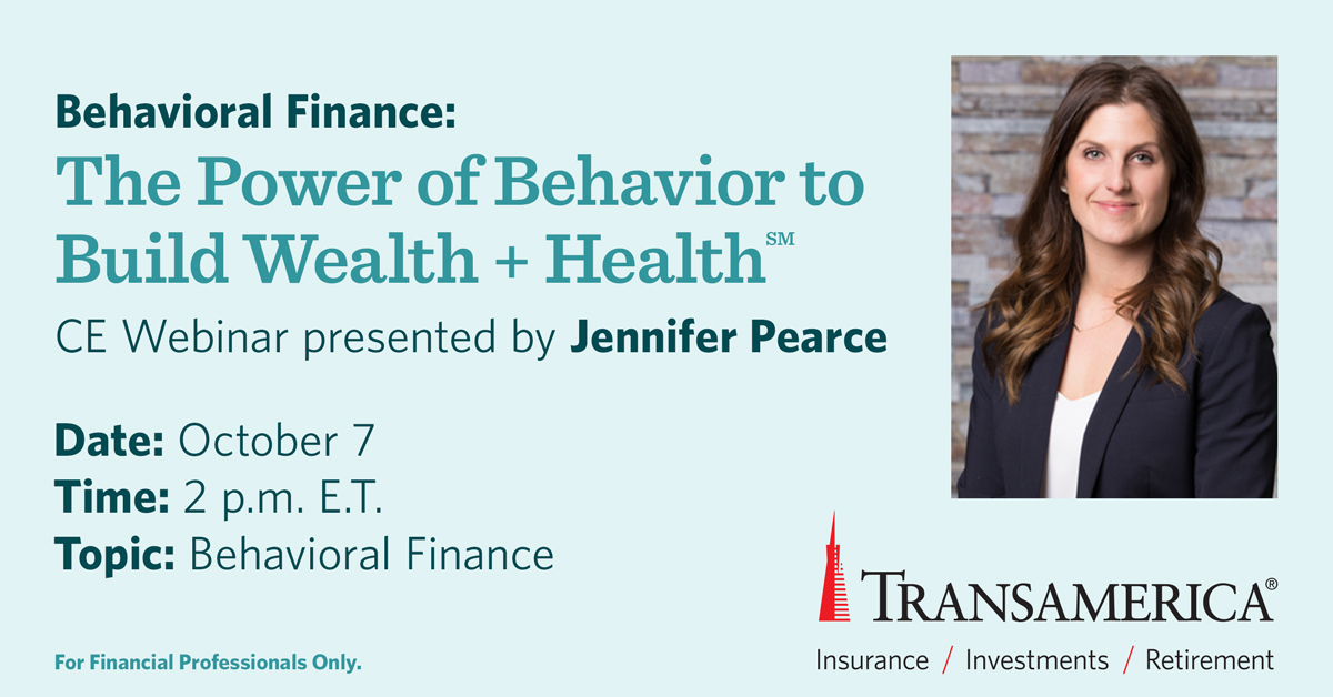 Humans are sometimes emotional and irrational when it comes to money decisions. Join Jennifer Pearce for a behavioral finance presentation. Click the link to register:  https://t.co/We3zX3euSn https://t.co/10kefTtqNF