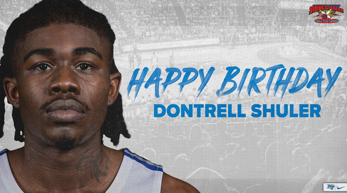 RT to wish Dontrell Shuler a happy birthday!! 🥳🎉🎂  #BlueRaiders 🔵⚪⚡️ https://t.co/6LXud2tthe